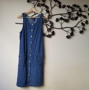 Dresses & Skirts - Blue Denim Button Down Dress